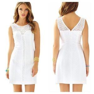 Lilly Pulitzer White Sofia Lace Shift Dress 6